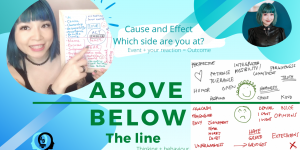 Above the line Below the Line Thinking Pattern: Which side are you?