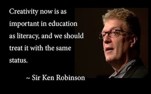 Pinterest ken robinson quotes creativity