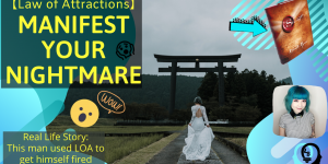blog banner of Manifest Your Nightmares with law of attractions