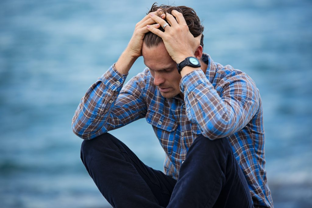 man problematic due to anxiety