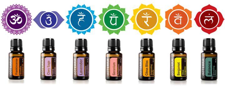 7 chakra healing essential oils by DoTerra
